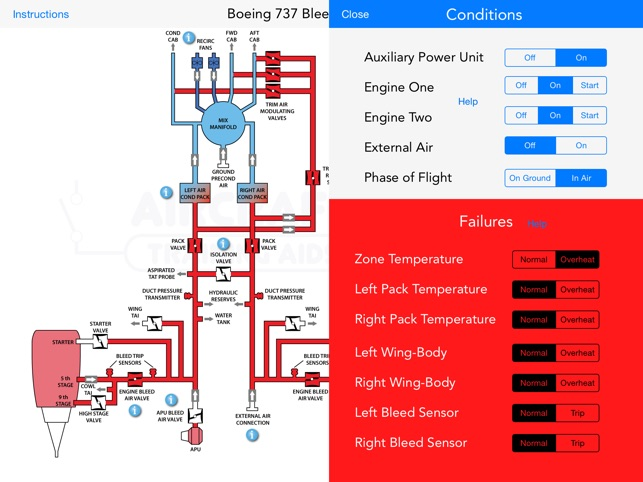 Boeing 737 B737 Interactive Training Diagrams On The App