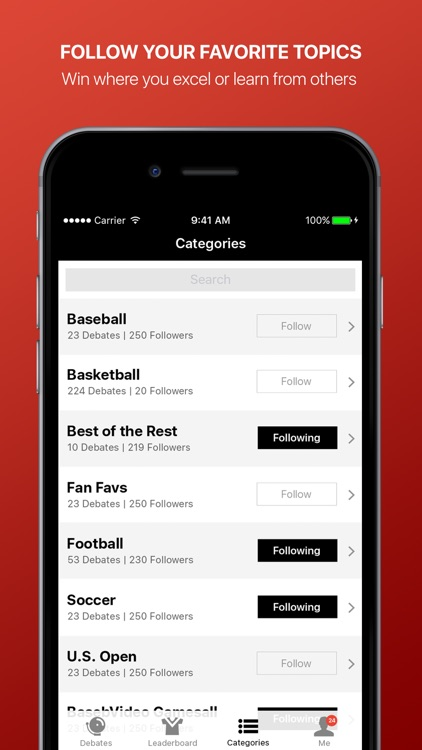Fandings - Social Network for Sports Debate screenshot-4