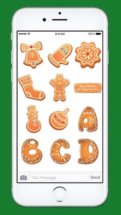 Gingerbread Cookies Holiday Sticker Pack 1 screenshot-3