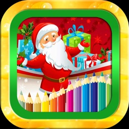 Christmas wishes photo coloring book for kids