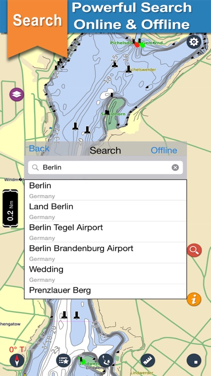 Berlin Lakes Offline charts for Lake & Park trails screenshot-3