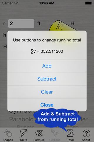 Скриншот из Volume Calculator