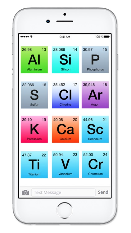 Rainbow Periodic Table of Elements Sticker Pack screenshot-3