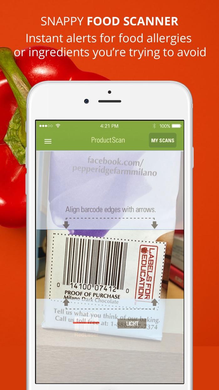 ShopWell - Healthy Diet & Grocery Food Scanner Screenshot