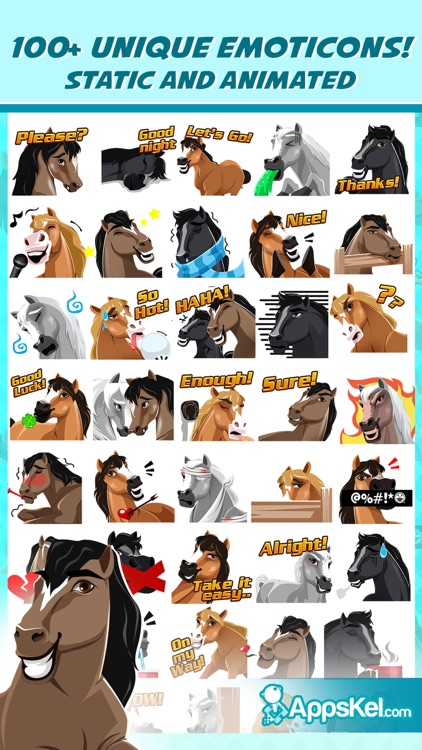 Quartermoji: American Quarter Horse Emoji Stickers screenshot-1