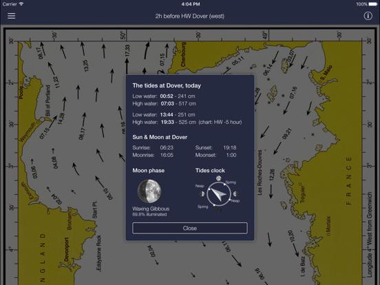 Stroomatlas, The English Channel iPad app afbeelding 3