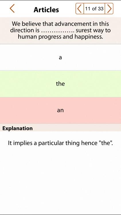 Grammar Express: Articles screenshot-3