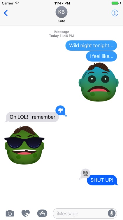 Zombie - Stickers for iMessage