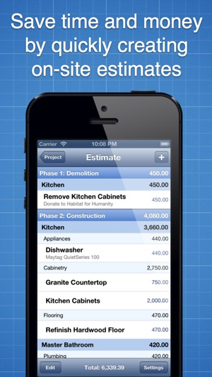 remodel estimator app
