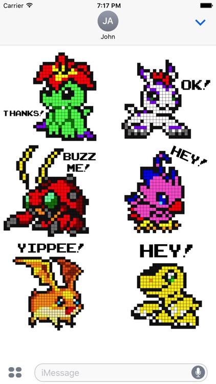 Digital Monsters Pixel Art: Sticker Pack