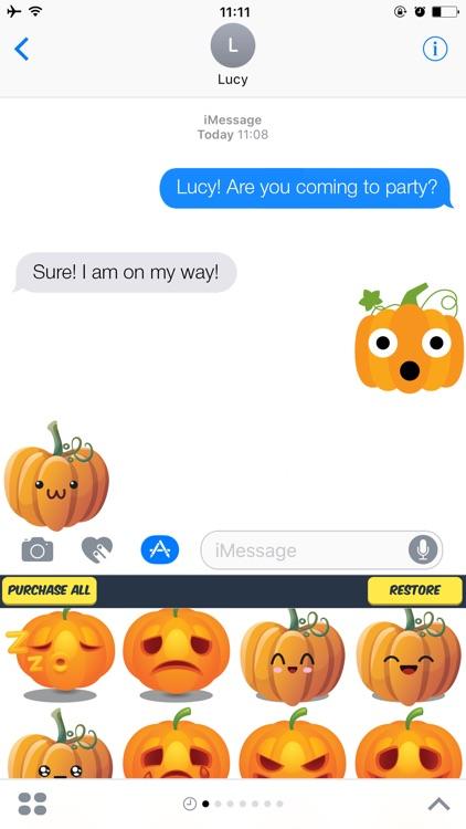 Pumpkin Stickers - Various Pumpkin Emojis