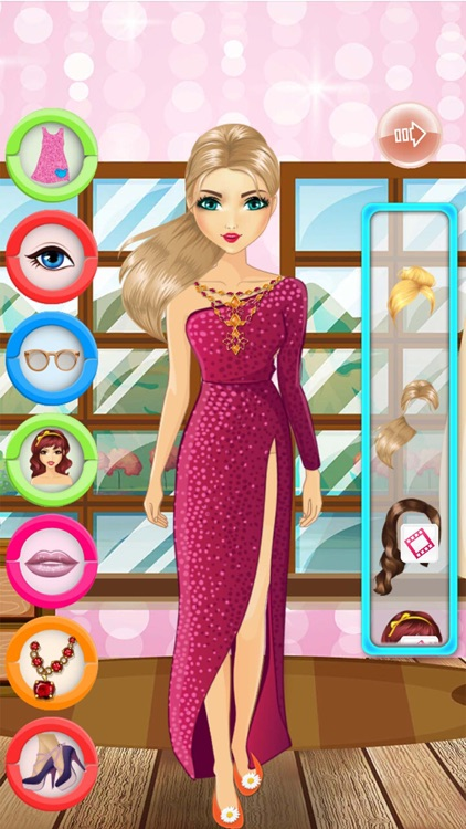 Film girl dress up and makeover