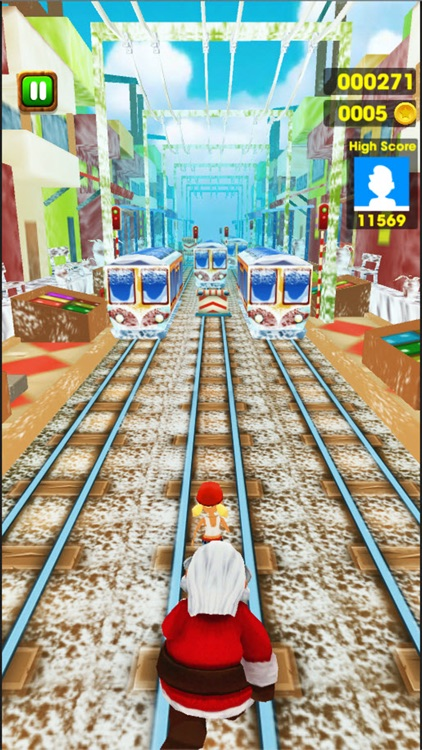 Subway Santa Running : Xmas Train Surfers screenshot-4