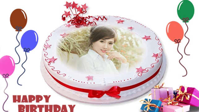 Name Photo On Happy Birthday Cake Im App Store
