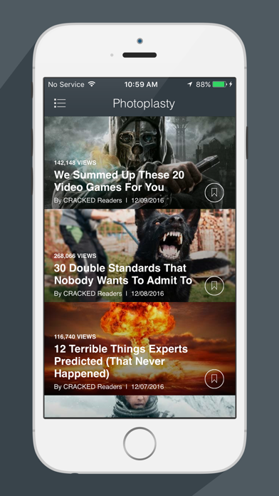 Screenshot 2 for Cracked's iPhone app'
