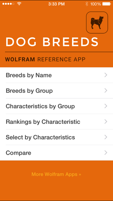 Wolfram Dog Breeds Reference App screenshot one