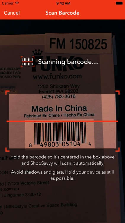 Shop Savvy Barcode Scanner - Price Compare & Deals app image