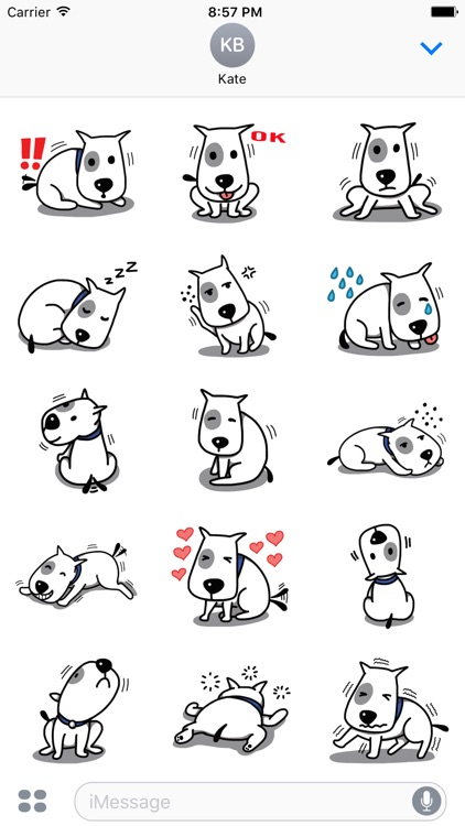 Puppy Bull Dog Stickers for iMessage