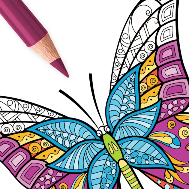 coloring book for adults app butterfly coloring pages for adults on the app store