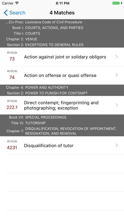 Louisiana Code of Civil Procedure (LawStack Ser.) screenshot-4