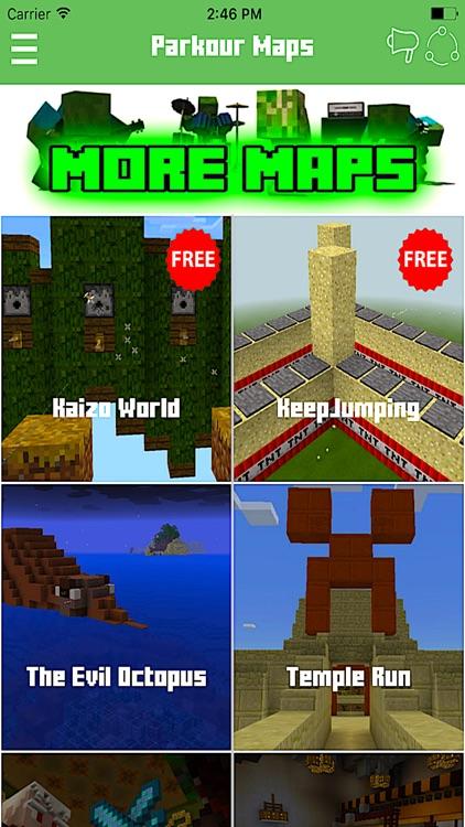 Скачать карты на паркур для Minecraft 1.2.8