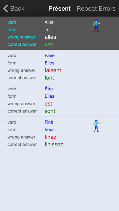 Verbuga French Verb Trainer screenshot four