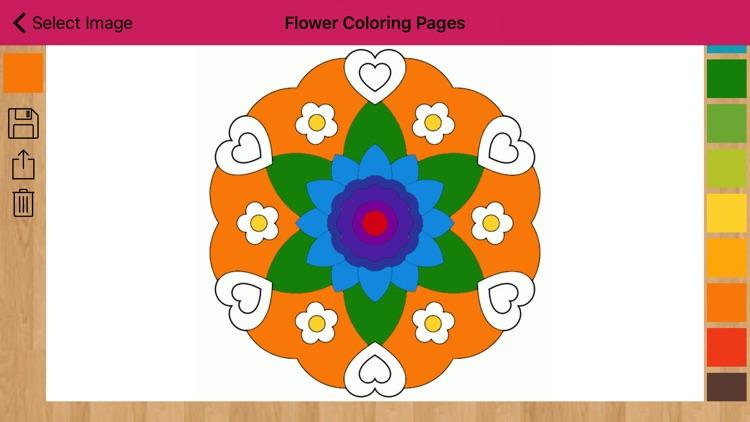 Flower Coloring Pages - Mandala Flower screenshot-4
