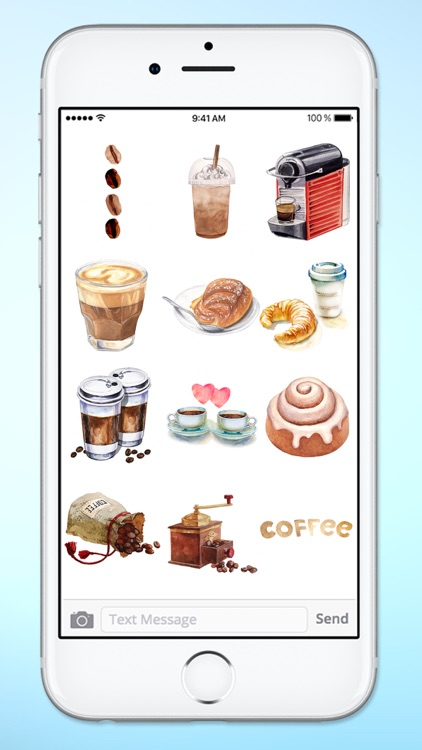 I Love Coffee Watercolor Sticker Pack screenshot-3