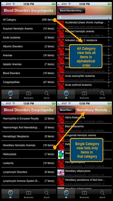 Blood Disorders Encyclopedia review screenshots