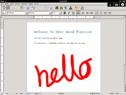 Open Word- Edit Microsoft Office Document for iPad - náhled