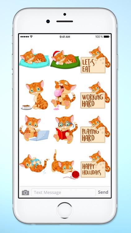 Cute Kitten Messages Sticker Pack screenshot-3