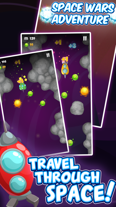 Space Wars Adventure - Collect Stars Avoid Monster screenshot three