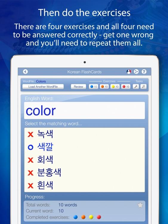 Learn Korean FlashCards for iPad screenshot-3