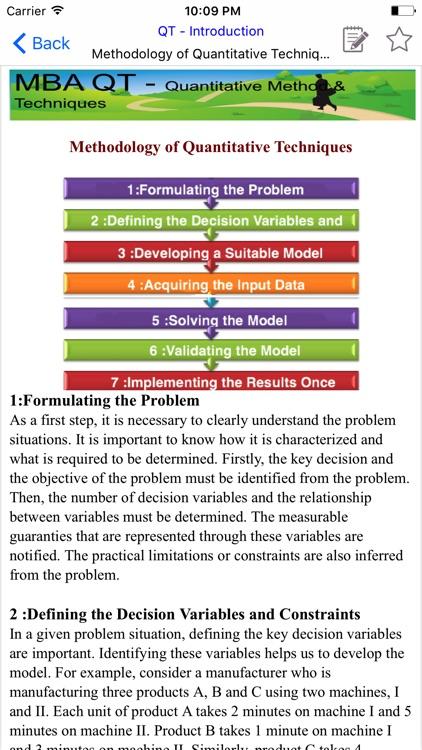 MBA QT - Quantitative Method & Techniques