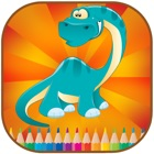 Coloring books Dinosaur For kid icon