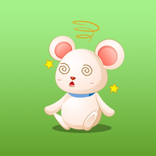Cute Little Mouse English Sticker