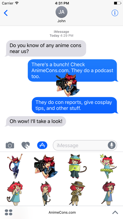 AnimeCons.com Stickers screenshot three
