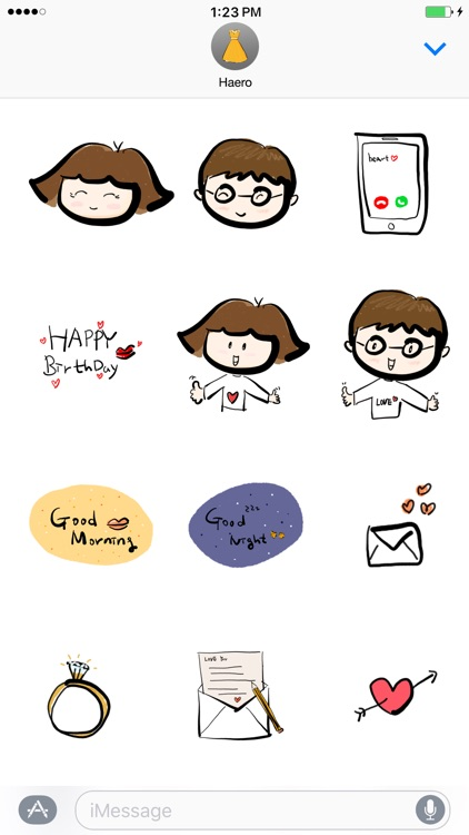 haero Love Stickers