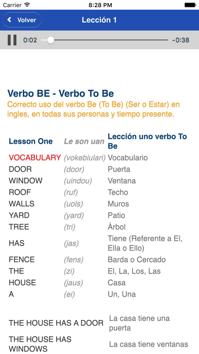 Curso Completo de Inglés Screenshot