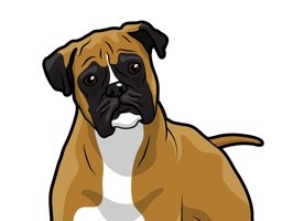 React with Boxer Dog Stickers and Emojis Pack