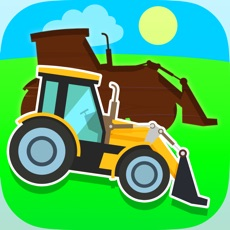 Activities of Diggers. Easy Puzzles for Babies