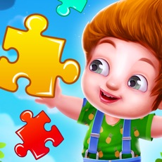 Activities of Kids Learning Jigsaw Puzzle
