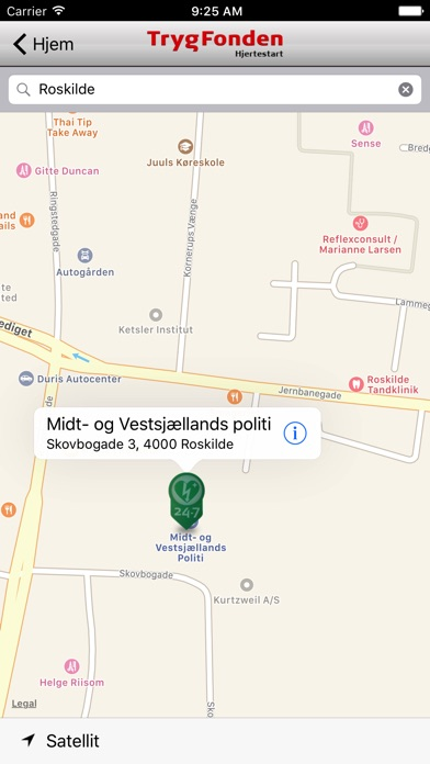 Screenshot for Trygfonden Hjertestart in Denmark App Store