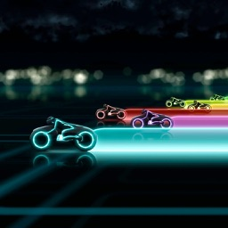 Light Cycles - Eight player multi-play