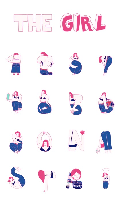 The Girl Stickers