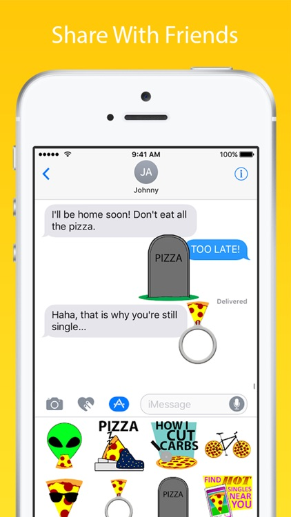 Pizzamoji: Pizza Emoji Stickers screenshot-1