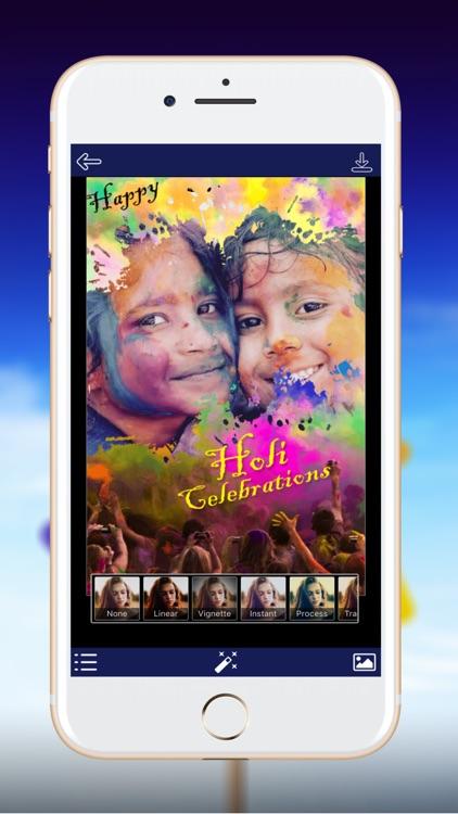 Holi Photo Frame - Best Frame of Colors screenshot-3