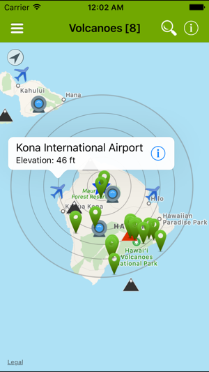 Volcanoes Map Alerts Ash On The App Store