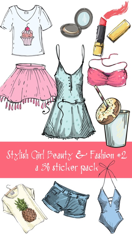 Stylish Girl Beauty and Fashion Sticker Pack 2