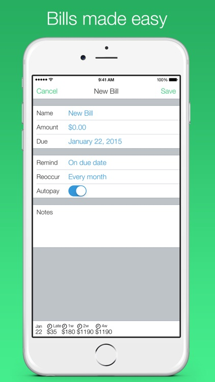 Jitto - bill reminder & budget manager screenshot-4